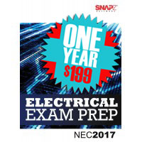 Snapz Electrical Exam Prep - for NEC 2017 NEC® - One Year subscription