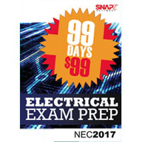 Snapz Electrical Exam Prep - for 2017 NEC® - 99 Day subscription