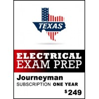 Texas Journeyman Electrician Exam Prep - 2017 NEC® - One Year subscription